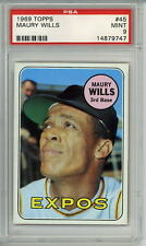 1969 Topps # 45 Maury Wills Montreal Expos PSA 9
