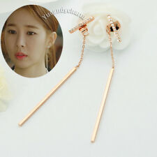 korean TV Guardian Lonely Great God face slimming Gem Bar back drop Long Earring
