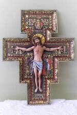 Giant San Damiano 17.75 inch Franciscan Crucifix Wall Cross