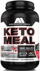 American Metabolix Keto Meal Replacement Chocolate Malt - 36 Servings FREE SHIP