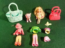 Polly Pocket Sparklin' Sparkling Pets Cat Doll Outfits Accessories