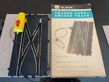 1/32 ELDON #3839  SLOT CAR CHANGE LANE SWITCH TRACK (2) + Catalog NOS VINTAGE