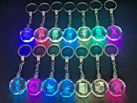 Attack On Titan Crystal Color Changing LED Light Key Chain ( Choose Character )