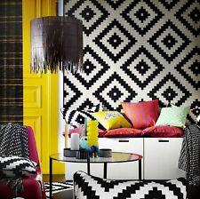 "Ikea LAPPLJUNG RUTA Rug 6 ' 7 "" x 6 ' 7 "" low pile white black NIP New"
