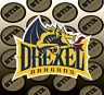 Drexel Dragons Logo NCAA Die Cut Vinyl Sticker Car Window Bumper Decal