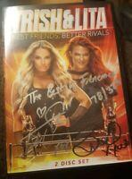 WWE Trish Stratus Lita Best Friends Better Rivals signed Autographed DVD Rare
