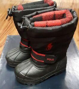 95282 Polo Ralph Lauren Whistler Snow Boots (TD) Toddler Baby - Black