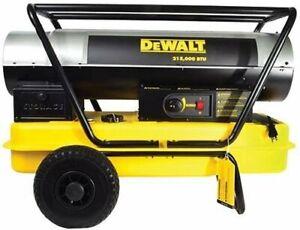 DeWALT DXH215HD - Forced Air 215,000 BTU Kerosene Construction Heater