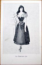1905 Xavier Sager, French Fashion Postcard: 'La Mode en 1780'