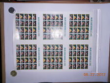 4694-7   IMPERF Baseball Four Player Press Sheet No Die Cuts Mint NH