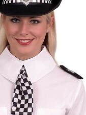 Policewoman Fancy Dress Set Collar Scarf Epaulettes WPC Police Kit by Smiffys