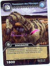 Carte DINOSAUR KING Attaque Alpha TITANOSAURE PATURAGE DKAA 009/100