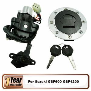 Ignition Switch Lock+Fuel Gas Cap 2 Keys Set For Suzuki GSF600 GSF1200 Bandit