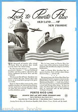 1945 PORTO RICO LINES advertisement, steamship Atlantic Gulf West Indies AGWI