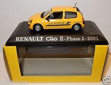 UH UNIVERSAL HOBBIES RENAULT CLIO II PHASE 2 2001 POSTES POSTE PTT 1/43 LUXE BOX