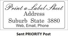 105 Personalised Labels / Stickers 48x20 mm Laser Printed Return Address
