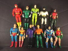 Lot of 11 DC Action Figures 80s 90s Kenner vintage Batman Superman Wonder Woman