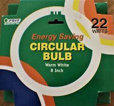 Feit Electric 22 Watt Circular Bulb NEW 8 Inch Warm White (Lot of 2)