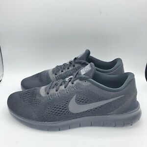 """Mens Nike Free RN """"Triple Black"""" Anthracite Running Shoes Size 12 831508-002"""