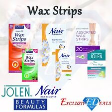 Wax Strips Hair Remover Face Legs & Body Ready To Use Quick & Easy Finishing NEW