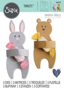 Sizzix Thinlits -  Bunny & Bear Hugs Die Set by Samantha Barnett