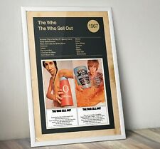The Who Album Art Print, Album cover Print, The Who Sells Out Print, Wall Art