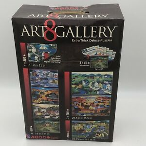 Art Gallery 8 Extra Thick Deluxe Puzzles Set 4800 Pieces Steve Klein & A.Stookey