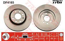TRW Juego de 2 discos freno Antes 260mm ventilado OPEL CORSA COMBO MERIVA DF4165