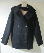 NEW!! IT42 UK 14 16 MAISON MARTIN MARGIELA black cashmere wool coat designer