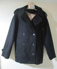 NEW!! IT42 UK 14 MAISON MARTIN MARGIELA black cashmere wool coat designer winter
