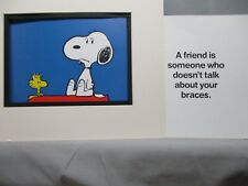 Snoopy Schulz Friendship Exhibit in Color Friend doesnt talk about your braces