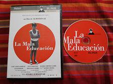 LA MALA EDUCACION DVD PEDRO ALMODOVAR JAVIER CAMARA LLUIS HOMAR