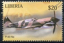 CURTISS P-40 / P-40N WARHAWK / Kittyhawk Aircraft Stamp (Liberia)