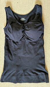 Cami Shaper Body Size XL Black Girdle Slimming Tank Top Padded Bust