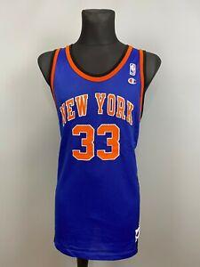 NEW YORK KNICKS PATRICK EWING JERSEY NBA BASKETBALL SWINGMAN CHAMPION SIZE 52
