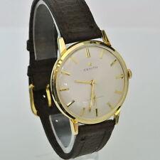 Vintage ZENITH Mens 18k Gold CAL. 2541 Mechanical Hand Winding Wrist Watch