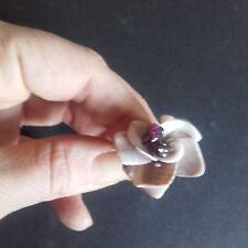 anello donna regolabile fatto a mano conchiglia colorata hand made marrone chiar