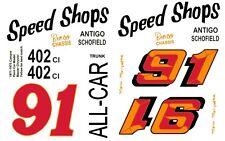 #91 Marv Marzufka Speed Shops Camaro 1971 1/64th HO Scale Slot Car Decals