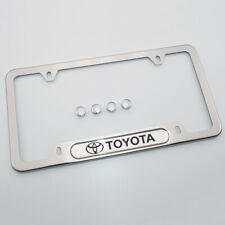 For Toyota Brand New License Frame Plate Cover Stainless Steel Chrome
