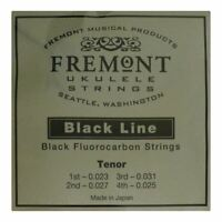 UKULELE STRINGS - FREMONT BLACKLINE FLUOROCARBON - TENOR - HIGH G TUNING - BLACK