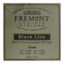 More details for ukulele strings - fremont blackline fluorocarbon - tenor - high g tuning - black