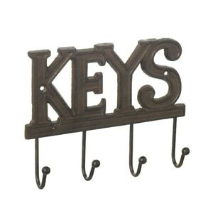 Wall hook cast iron key holder hanging rack storage rustic country hall
