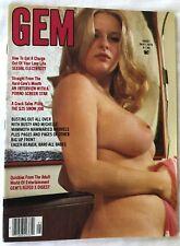 GEM MAY 1976 VINTAGE BIG BOOB TITS HAIRY BUSH NIPPLES