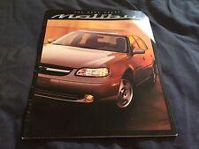 2002 Chevy Chevrolet Malibu Original Color Brochure Prospekt
