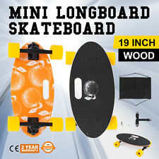 "Mini 19"" Longboard Skateboard Cruiser Skateboard Aluminum-alloy Smallest Orange"