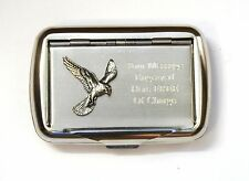Kestrel Bird Tobacco Hand Rolling Ups Cigarette Tin FREE ENGRAVING Falconry Gift