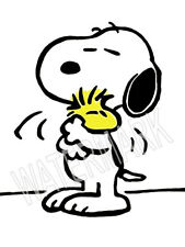 Snoopy hugs woodstock High Quality Metal Fridge Magnet 3x4 8964