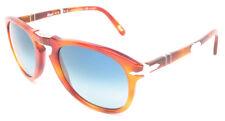 Persol 714/SM Sunglasses 714SM Steve McQueen 96S3 Blue Polarized Authentic 52m