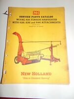 New Holland Service Parts Catalog Model 616 Forage Harvester Issue 4-64