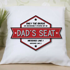 Personalised Dad's Seat Cushion - Printed with any message